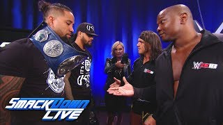 Chad Gable Shelton Benjamin Square Up To The Usos Smackdown Live Oct 17 2017