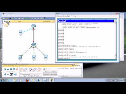 Initial configuration of router in telugu