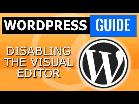 enable wordpress html editor in WordPress for your user profile and how to disable it - guide