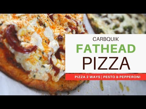 CARBQUIK-Fathead Pizza 2 WAYS   PESTO & PEPPERONI   #KETOGENICDIET   #LCHF   #weightloss