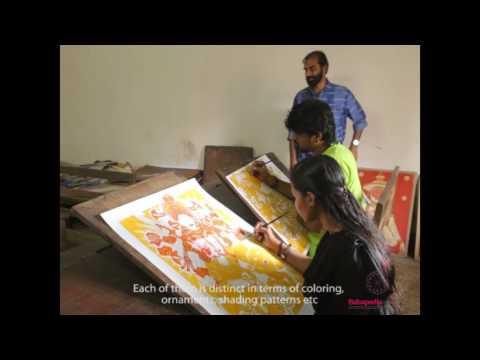 A short video on Guruvayur Devaswom Institute of Mural Painting, Kerala