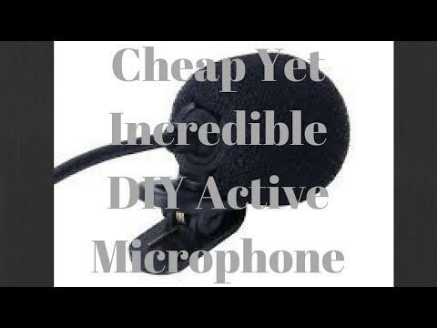 DIY Active Mic For Youtubers & Film makers