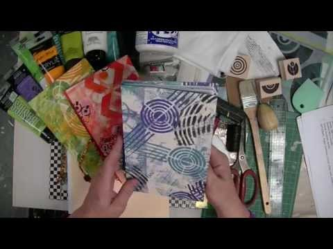 Cloth Paper Scissors -- Gelli JumpStart Journal Demo - Supply List - Patti Tolley Parrish