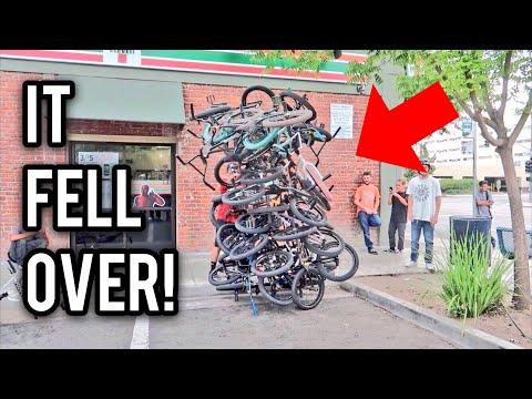 HUGE STACK OF BMX BIKES!
