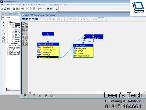 Oracle Reports 10g Tutorial in Bangla: Viewing Output from Multiple Query Reports