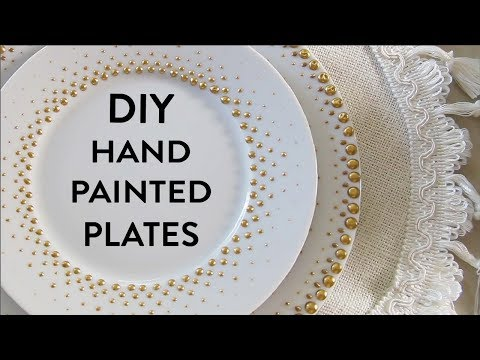 DIY Porcelain Dot Plates