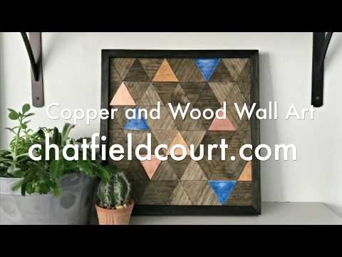 Copper and Wood Wall Art