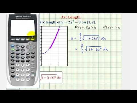 Ex: Find the Arc Length of a Quadratic Function