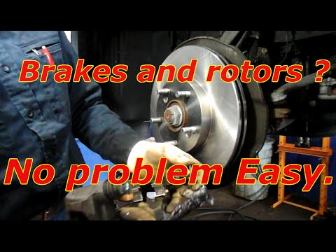 How to replace the front brakes and rotors on a Honda Accord