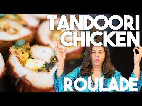 TANDOORI CHICKEN Roulade | Paneer & Spinach Filling | Kravings