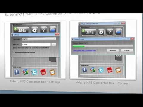 How to Convert M4a files to MP3s