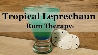 Could you use a recipe for a green drink (other than beer!) for St. Patrick's Day this year? This recipe adds includes a little tropical flare in a delicious and rummy St. Patrick