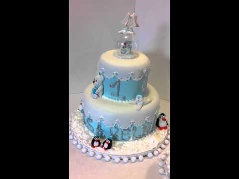 Winter wonderland Cake - Cup n cakes Gourmet - Snow Globe Cake Topper