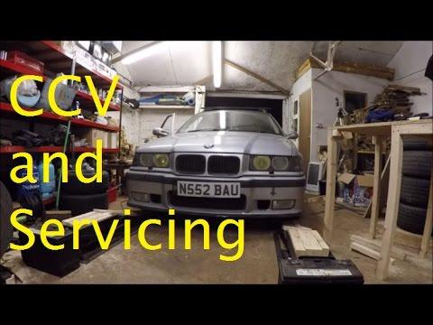E36 328i Touring - VLOG 2 - Crank Case Valve Replacement - New rocker cover gasket - Servicing