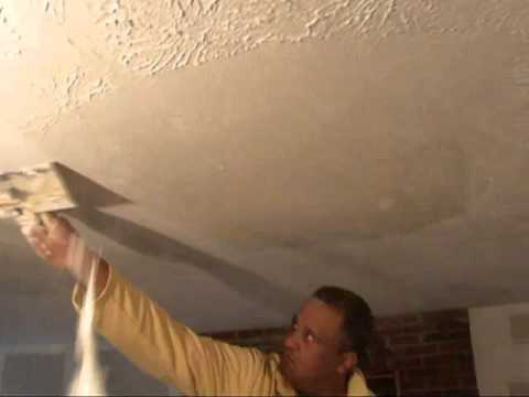 How To Remove Textured Wall & Ceilings Water Damage Drywall Plaster  Popcorn Atlanta GA  Home Repair