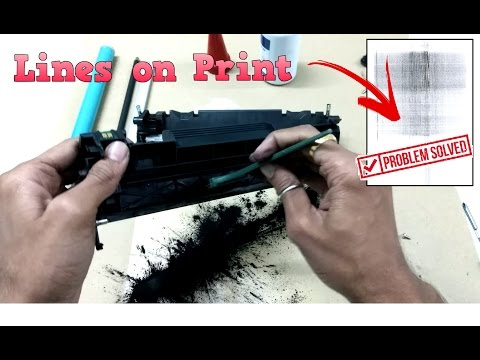 How to clean replace change open OPC DRUM of hp 88a cartridge CB435A CB436 36A CE278 78A CE285A 85A
