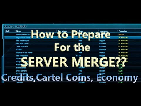 SWTOR - What do You NEED to do Before the Server Merges??!!