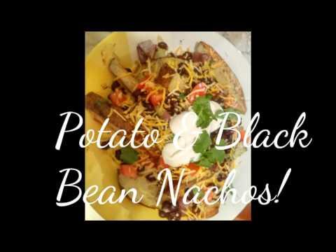 EASY DINNER RECIPE   BLACK BEAN AND POTATO NACHOS