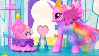 LPS and MLP Toys - My Little Pony Crystal Castle and Littlest Pet Shop Rainbow Pets