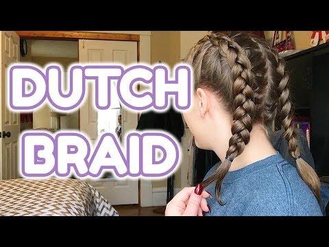 DUTCH BRAID Tutorial w/ Grips + SHORT HAIR!