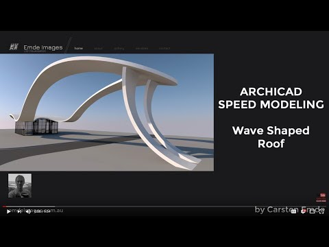 Speed  Modeling wave roof shape