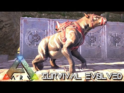 ARK SURVIVAL EVOLVED - NEW CHALICOTHERIUM TAMING !!! (GAMEPLAY NEW UPDATE v248)
