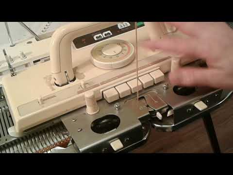 How does a knitting machine work (shorter version) Standard Brother KnitKing 930 910 860