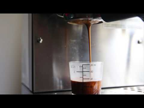 How to make espresso at home - pulling a shot on Miss Silvia