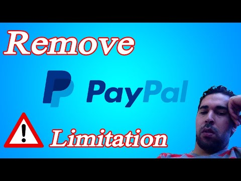 paypal How to solve paypal account limitation HD