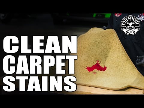 How To Deep Clean Carpet Stains & Floor Mats - Chemical Guys Lightning Fast Stain Extractor