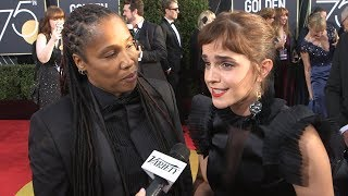 #WhyWeWearBlack - 2018 Golden Globes Red Carpet Interviews