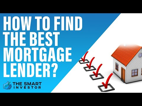 How To Find The Best Mortgage Lender