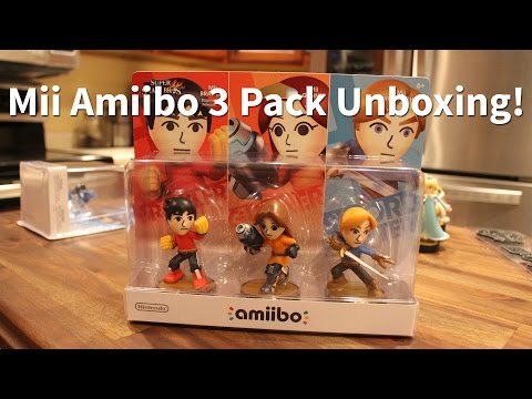 Early Mii Amiibo 3 Pack Unboxing/Review - Toys R Us Exclusive