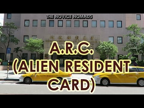 How to Get an A.R.C. (Alien Resident Card) | TAIWAN VLOG