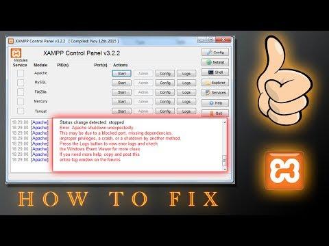 Final Solution How To Fix XAMPP - Error: Apache shutdown unexpectedly