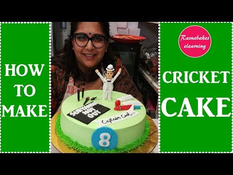 how to make cricket cake: Cake Decorating Tutorial