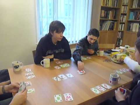 Youth Group Playing Skip-Bo
