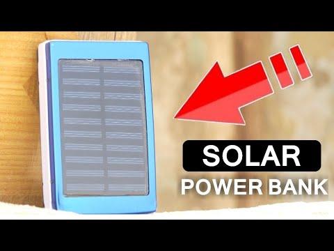 இனிய உங்கள் மொபைலை சார்ஜ் ஏற்ற மின்சாரம் தேவையில்லை Solar Power Bank Unboxing - Wisdom Technical