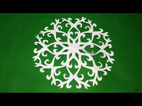 How to make Easy & simple paper cutting designs snowflakes#DIY-paper cutting#paperCraft