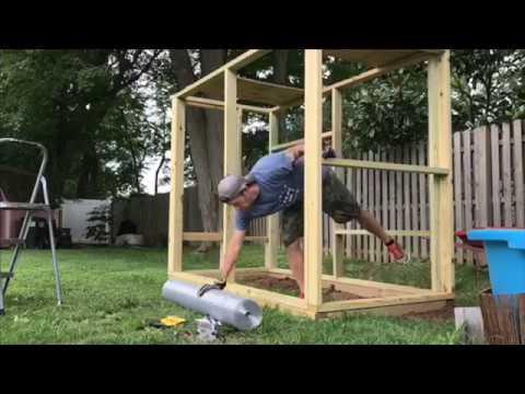 DIY Outdoor Iguana Enclosure- Finishing up the outdoor iguana enclosure here at BYT!