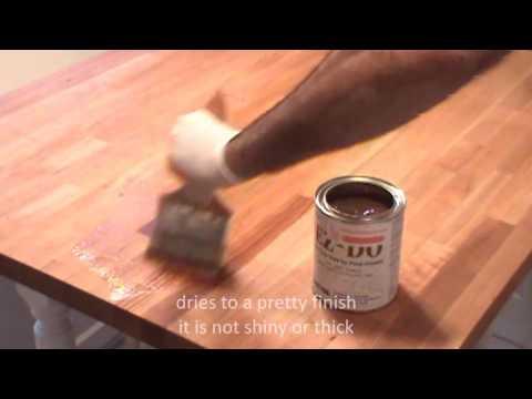 how to seal butcher block countertops