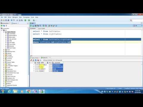 Left Outer Join in Oracle   Right Outer Join   full Outer Join   Oracle Tutorials   Oracle Training