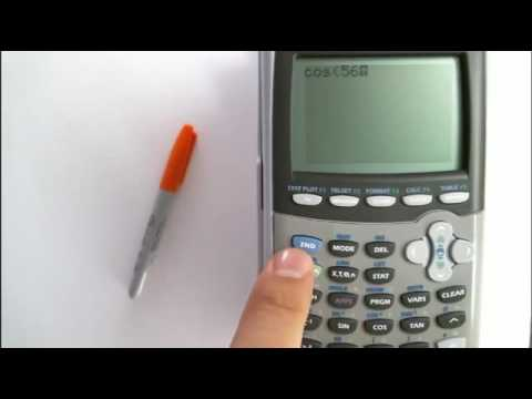 How to evaluate degrees and radians in TI - 84 without changing the mode back and forth