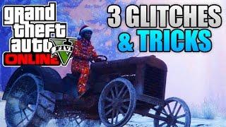 GTA 5 Online - 3 NEW GLITCHES & TRICKS! (Catapult Glitch, Invisible Arms & Instant Death Glitch)