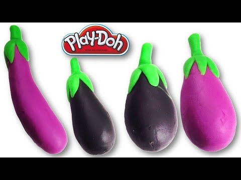 Making of Eggplants from Play-Doh