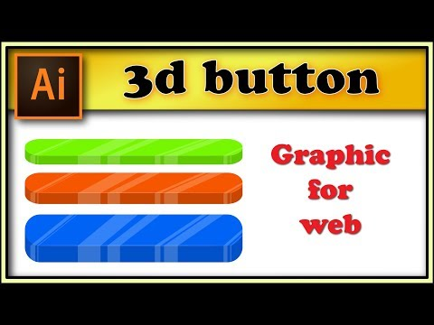 3d rectangle infographic button - Adobe Illustrator tutorial