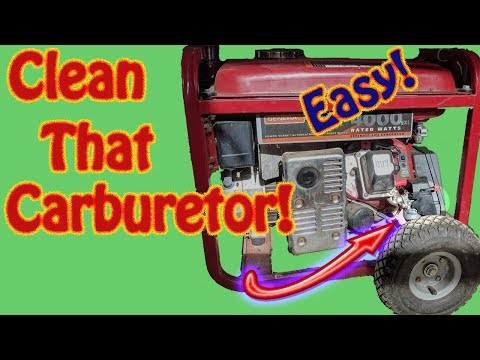 How to Clean a Generac Briggs and Stratton Nikki Carburetor - Generator Hunting for Fuel