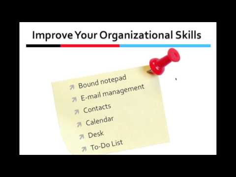 TECC Video 6 of 7 - Organizational Skills and Productivity