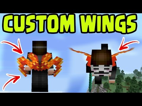 CREATE CUSTOM WINGS! HOW to CREATE CUSTOM ELYTRA WINGS! MCPE Custom Wings - Minecraft Pocket Edition