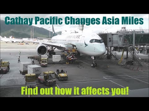 Cathay Pacific announces changes to Asia Miles – May 2018